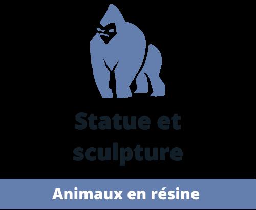 Statues et Sculptures : Animaux de décoration en résine